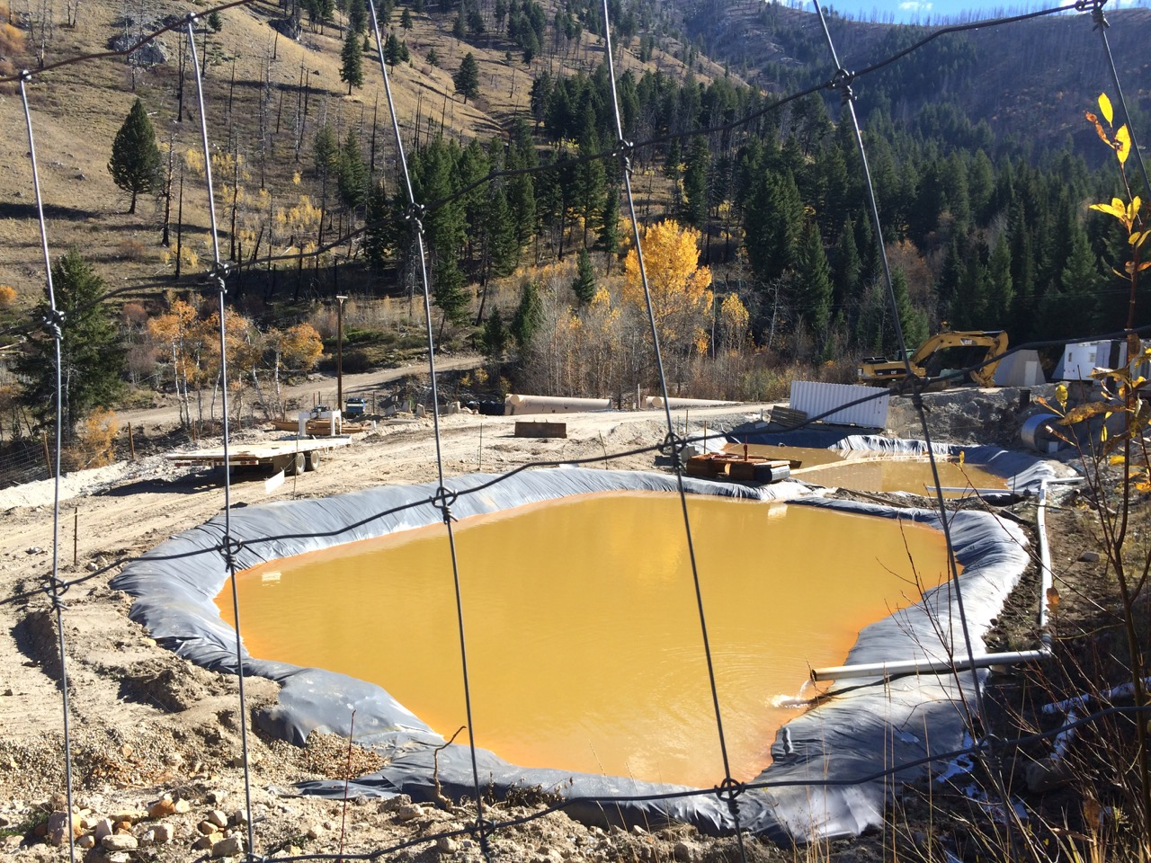 This is a photo of Atlanta Gold's current filtration system at the adit site, taken by Staff Attorney Bryan Hurlbutt in 2014.